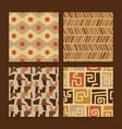africa tribal art ethnic seamless pattern set vector image vector image