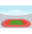Athletics stadium for competitions vector image