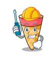 automotive ice cream tone mascot cartoon vector image vector image