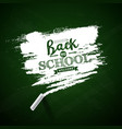 back to school design with green chalkboard and vector image vector image