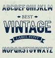 best vintage font poster vector image