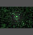 blackboard inscribed with scientific formulas and vector image