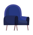 blue chair furniture comfort isolated design white vector image vector image