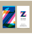 Business card letter Z