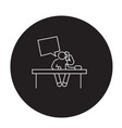 business talk in office black concept icon vector image