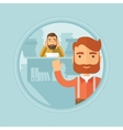Businessman with his employee on background vector image vector image