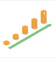 Cash flow graph vector image