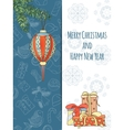 Christmas and New Year invitation card vector image vector image