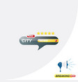 city news icon for journalism of news tv channels vector image vector image