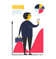concept business man in flat style vector image vector image