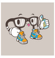 cool nerd glasses mascot vector image vector image