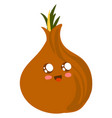 cute onion on white background vector image vector image