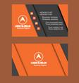 dark orange color business card image vector image vector image