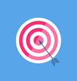 darts with arrow in center round flat vector image vector image