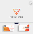 diamond stone jewelry logo template and business vector image