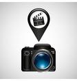 digital photo camera clapper film pin vector image vector image