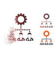 dissolved dotted halftone gear hierarchy workers vector image vector image