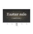 easter sale limited stock billboard with holiday vector image vector image