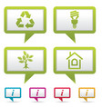environment web icons vector image vector image