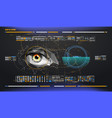 eye in process of scanning biometric scan with vector image vector image