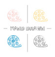 filmstrip roll hand drawn icons set vector image