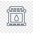 fireplace concept linear icon isolated on vector image