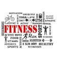Fitness and Healthy Exercise Word vector image vector image