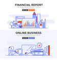 flat design concept banner -financial report and vector image