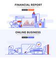 flat design concept banner -financial report vector image vector image