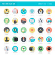 flat design icons for graphic and web design vector image vector image
