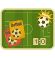 Football card vector image vector image