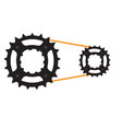 gear of a bike vector image vector image