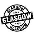 glasgow black round grunge stamp vector image vector image