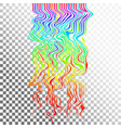 glitch waves background art digital abstract vector image