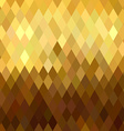 Gold rhombus seamless pattern low poly origami vector image