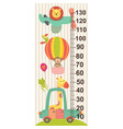 growth measure with baby jungle animals vector image vector image
