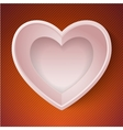 heart happy Valentine day love paper 3D frame vector image vector image