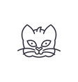 home cat head line icon sign vector image vector image