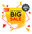 hot big sale up to 80 off end of season im vector image