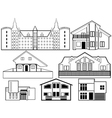 house silhouettes vector image