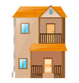 house with orange roof vector image vector image
