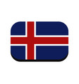 icelandic flag vector image vector image
