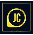 initial letter jc logo template design vector image vector image