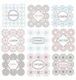 Isolated geometric ornament pattern vector image vector image