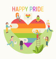 lgbt people community poster vector image vector image
