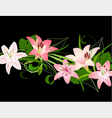 lilies pattern vector image vector image