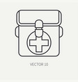 line flat hunt and camping icon first-aid vector image vector image