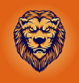 lion head vintage character vector image vector image