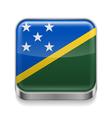 Metal icon of Solomon Islands vector image vector image