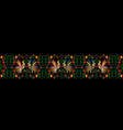 mexican print traditional textile embroidery style vector image